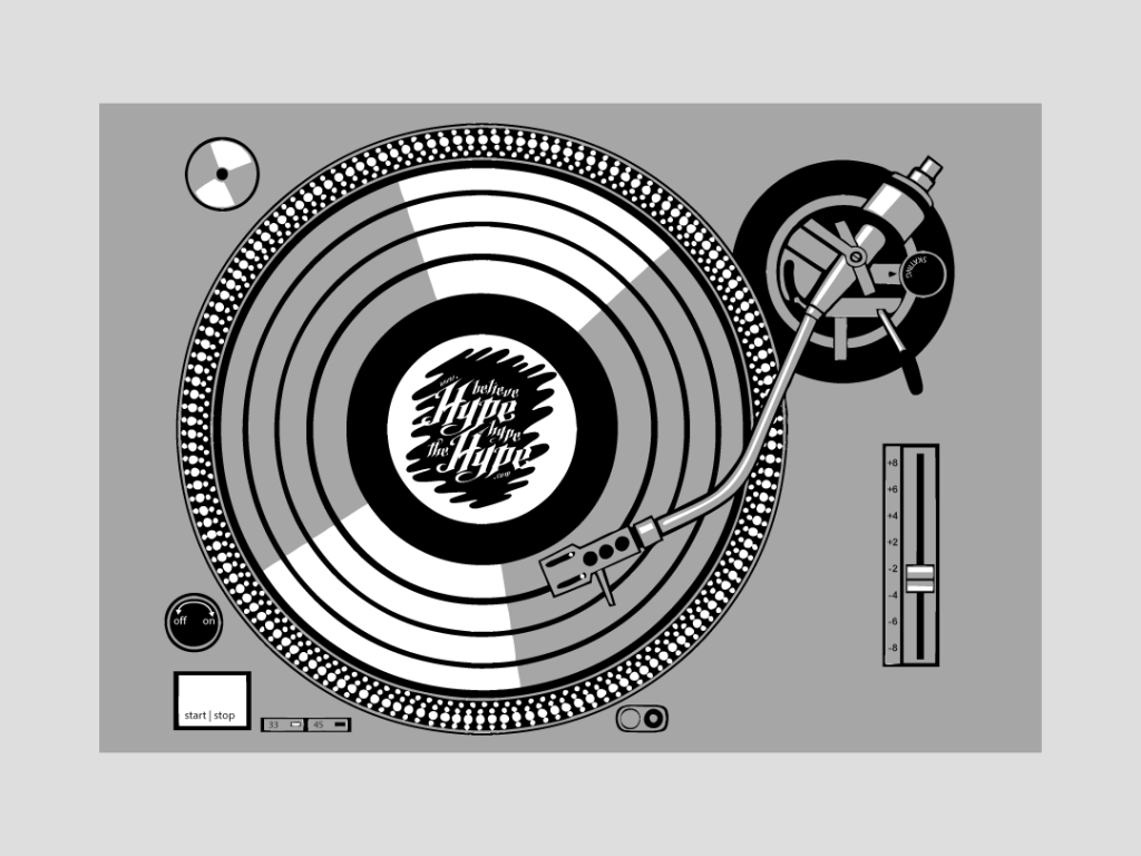 Hype Turntable – Graphic Design