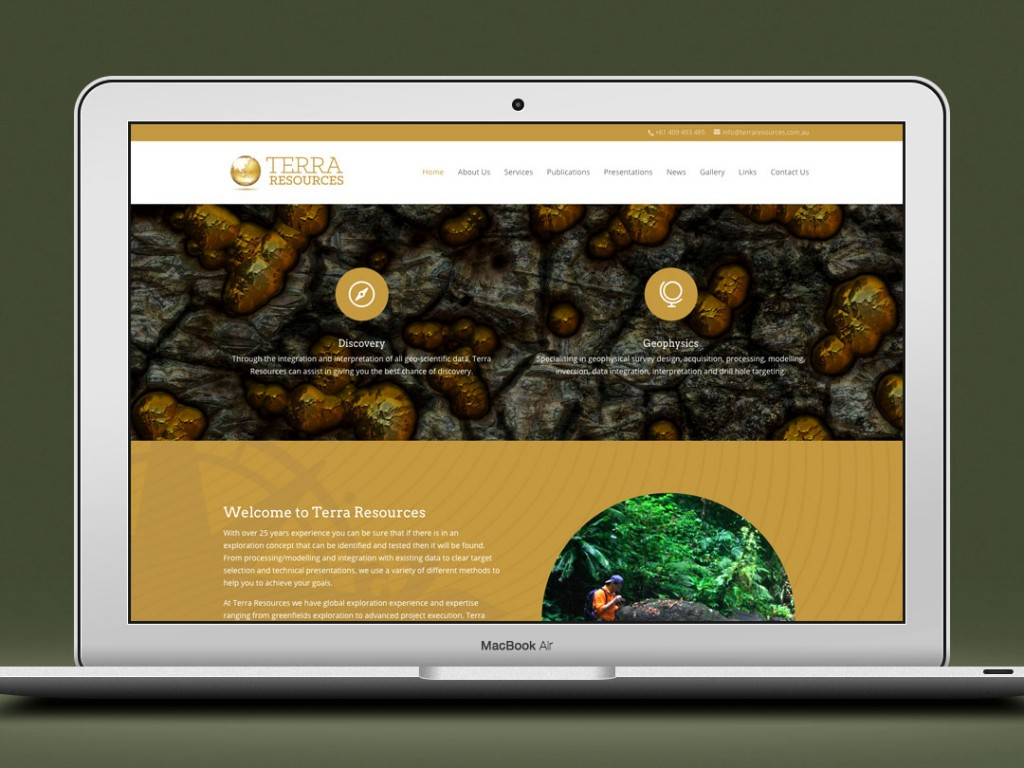 Terra Reources – Web Design